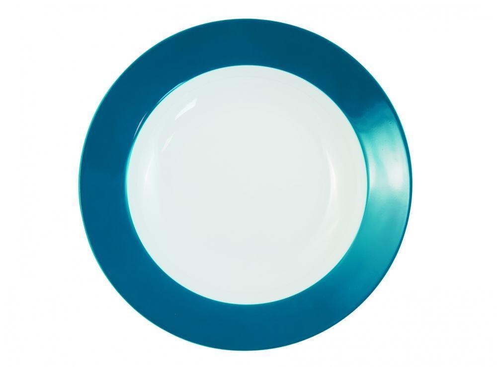 Kahla Pronto Brunch-Teller flach 23 cm in grün-blau