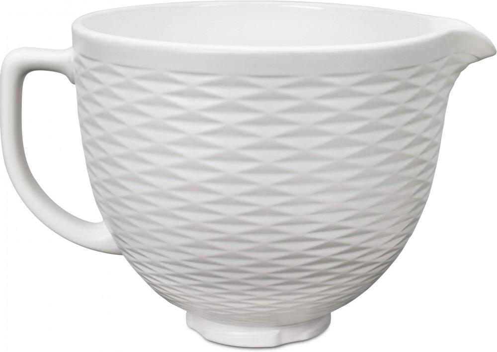 KitchenAid Keramikschüssel in weiß strukturiert, 4,7 Liter