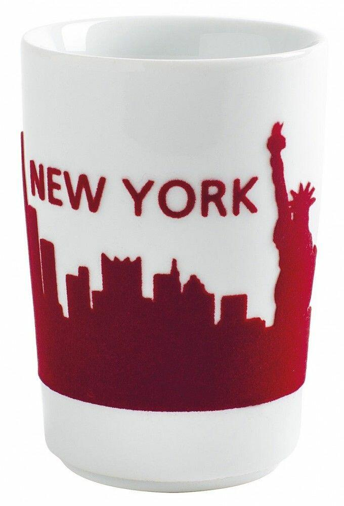 Kahla Five Senses touch! Maxi-Becher New York in rot