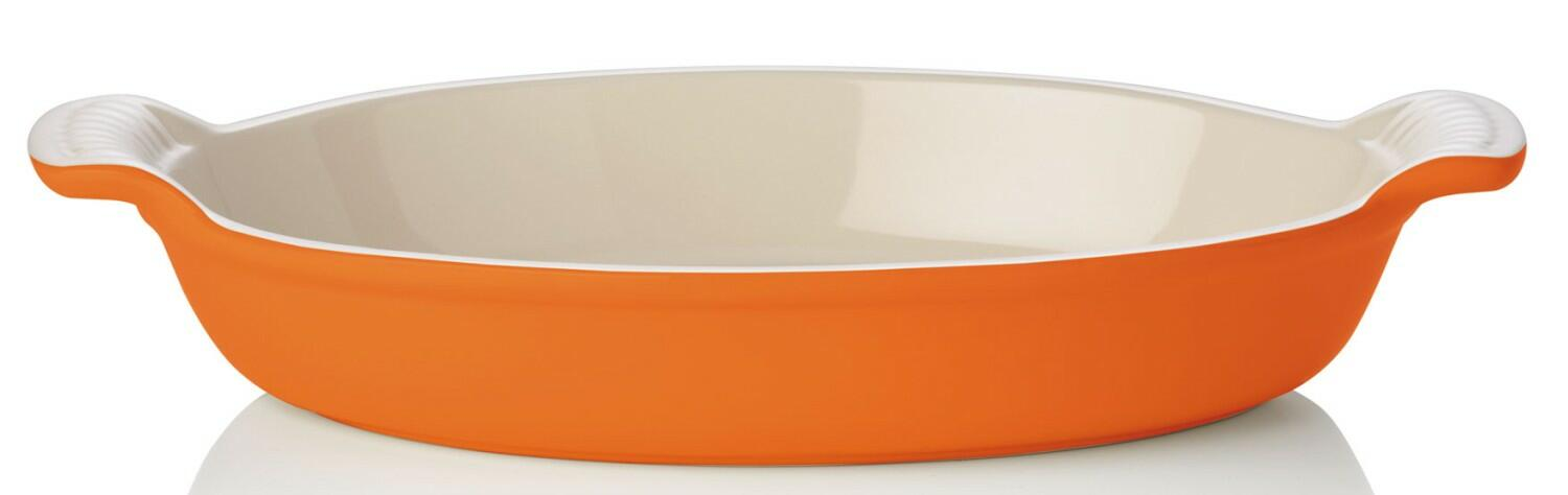 Le Creuset Auflaufform oval in ofenrot