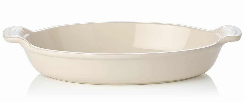 Le Creuset Auflaufform oval in creme