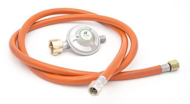 Allgrill Gasdruckminderer mit Gasschlauch,  50 mbar