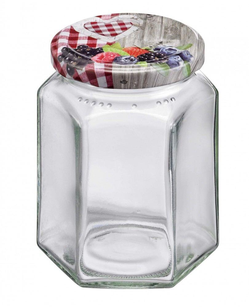 Westmark Einmachglas mit Schraubdeckel eckig 110 ml, 6er Set