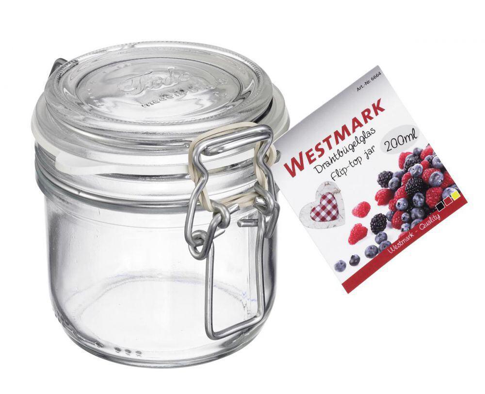 Westmark Drahtbügelglas mit Gummiring, 200 ml