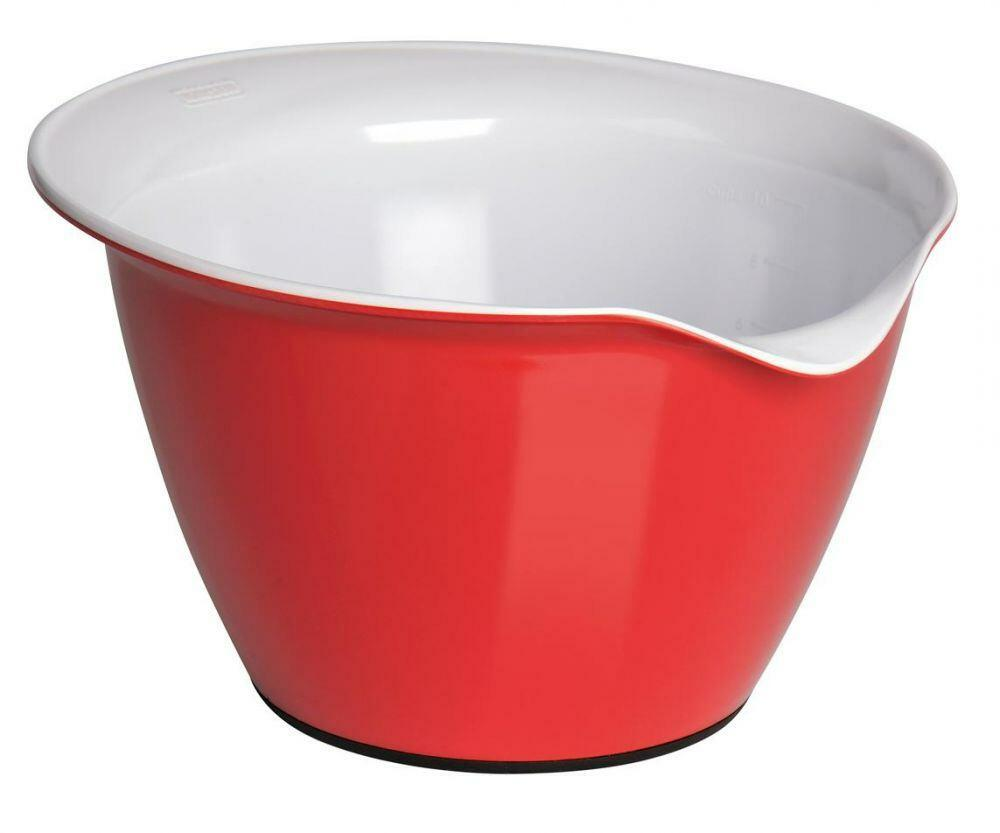 Kaiser Teigschüssel in kirschrot/weiß, 2,5 Liter