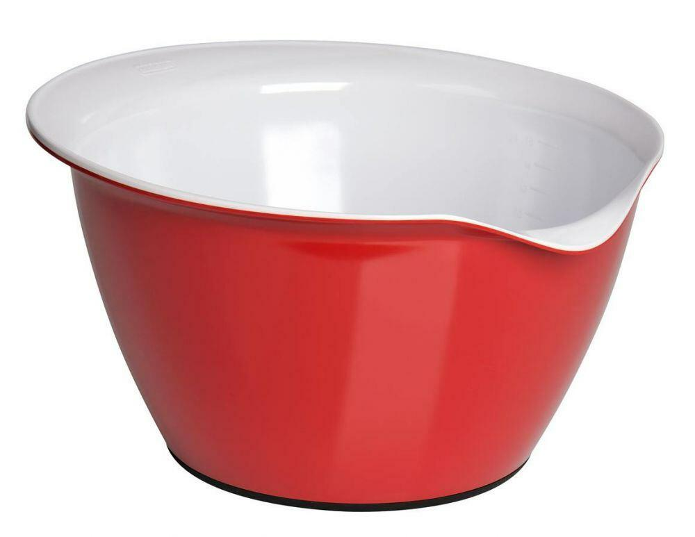 Kaiser Teigschüssel in kirschrot/weiß, 4 Liter