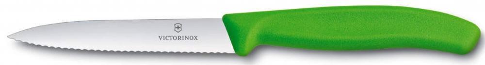 Victorinox SwissClassic Gemüsemesser mit Wellenschliff, 10 cm, grün
