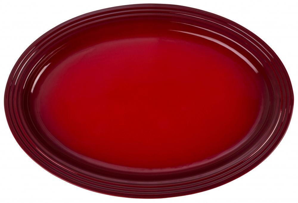 Le Creuset Servierplatte oval in kirschrot