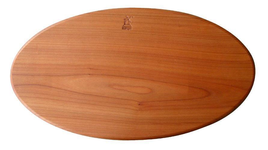 Schneidbrett von Windmühlenmesser kirschholz, oval