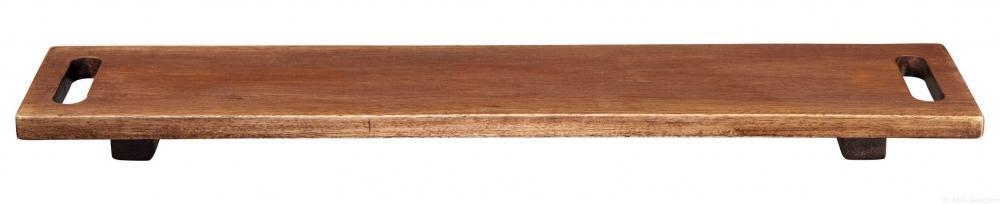 ASA Holzboard auf Füßen aus Akazie