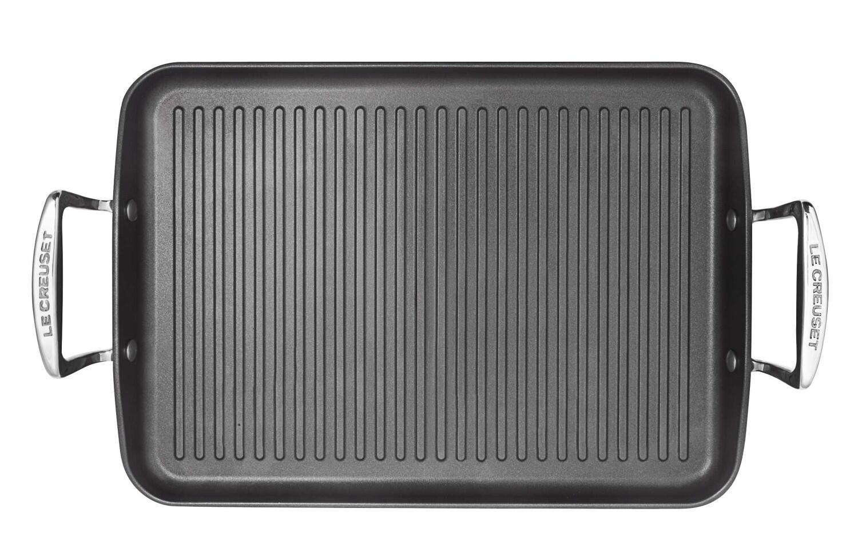 Le Creuset Aluminium-Antihaft-Grillplatte mit Rillen
