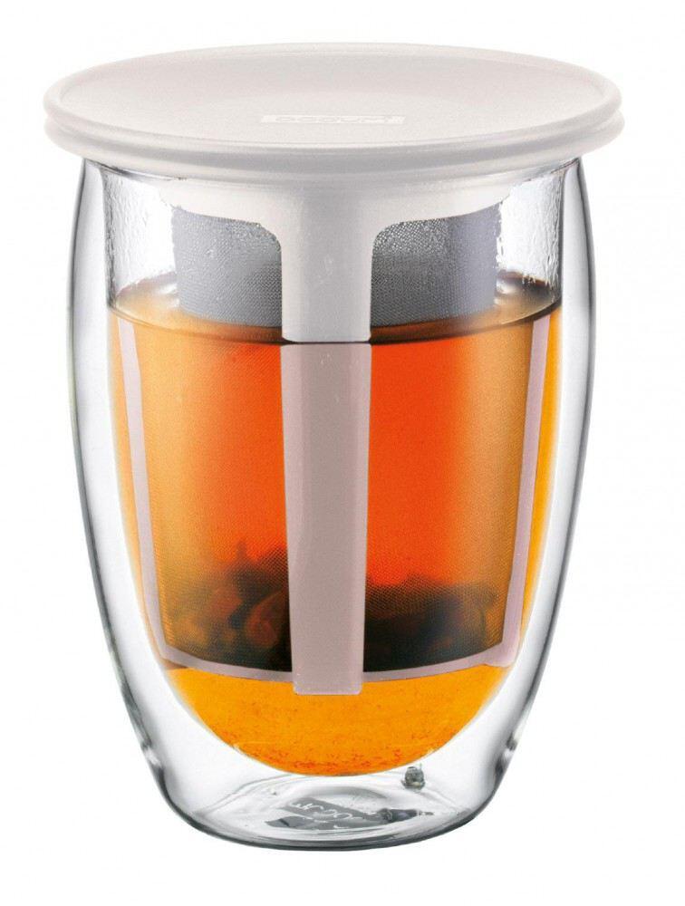 Bodum Teeglas Tea For One, 0,35 l, cremefarben