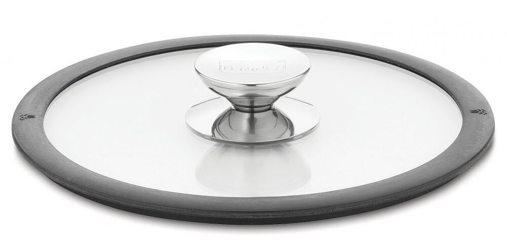 Berndes Glasdeckel mit schwarzem Silikonrand