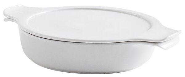 Eschenbach flacher Topf mit Deckel Cook & Serve in weiß