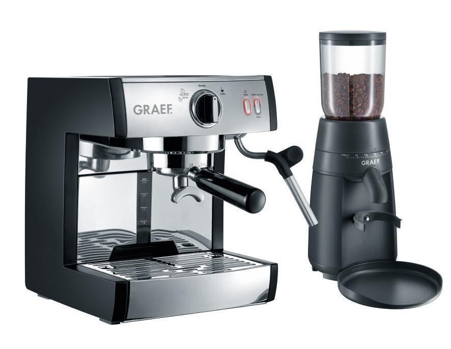 Graef Espressomaschine Pivalla & Kaffeemühle CM 702 im Set