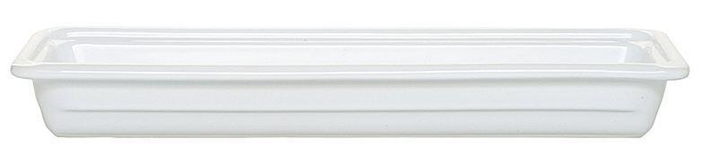 Emile Henry GN-Schale rechteckig 2/4 in weiß