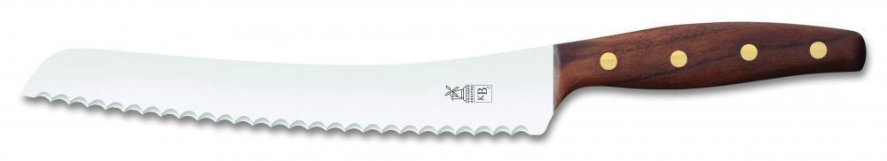 Windmühlenmesser BrotBeidhänder K B2 in Walnuss mit Messingnieten