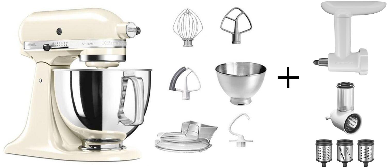 KitchenAid Küchenmaschine ARTISAN 175PS creme Kochprofiset