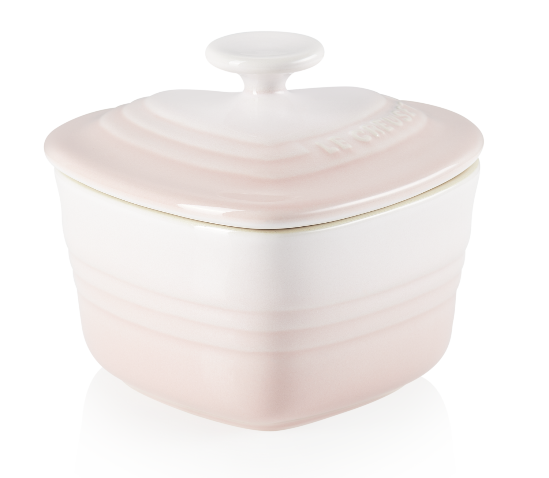 Le Creuset Herzförmchen mit Deckel shell pink