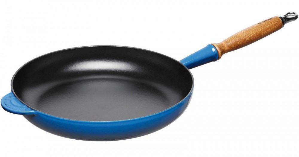 Le Creuset Bratpfanne aus Gusseisen in marseille bleu