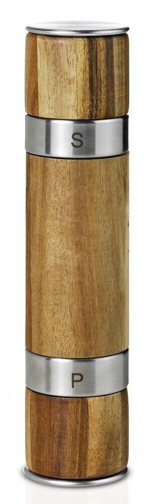 AdHoc Doppelmühle Duomill für Pfeffer und Salz in Holz