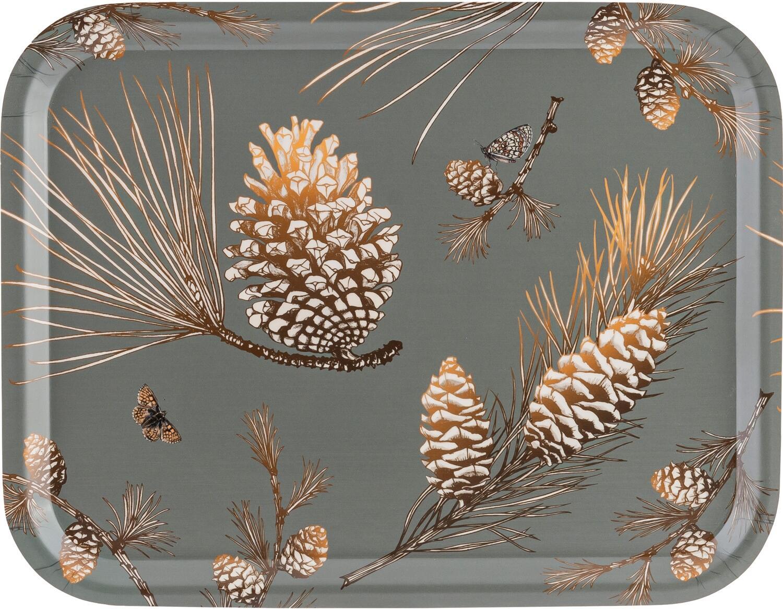 Åry Trays Tablett Pine Cone Moss Grey rechteckig