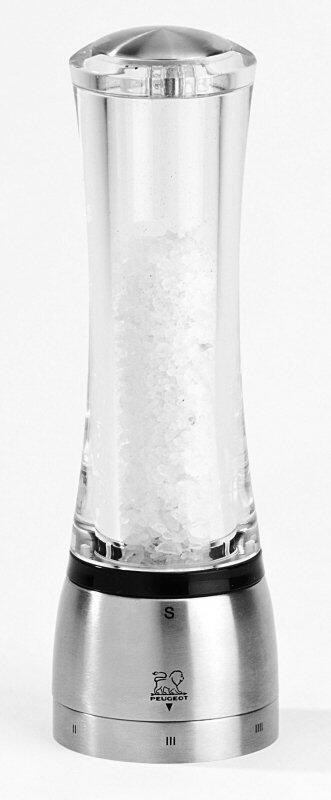 PEUGEOT Salzmühle Daman in Acryl/Edelstahl mit justierbarem Mahlgrad
