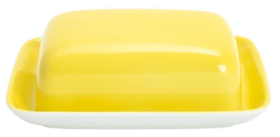 Kahla Pronto Butterdose, eckig in zitronengelb