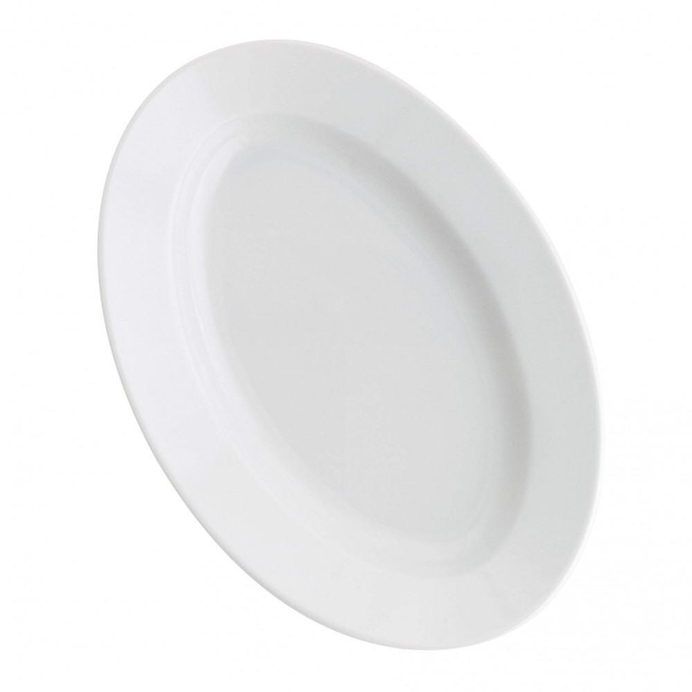 Kahla Pronto Platte, oval 28 cm in weiß