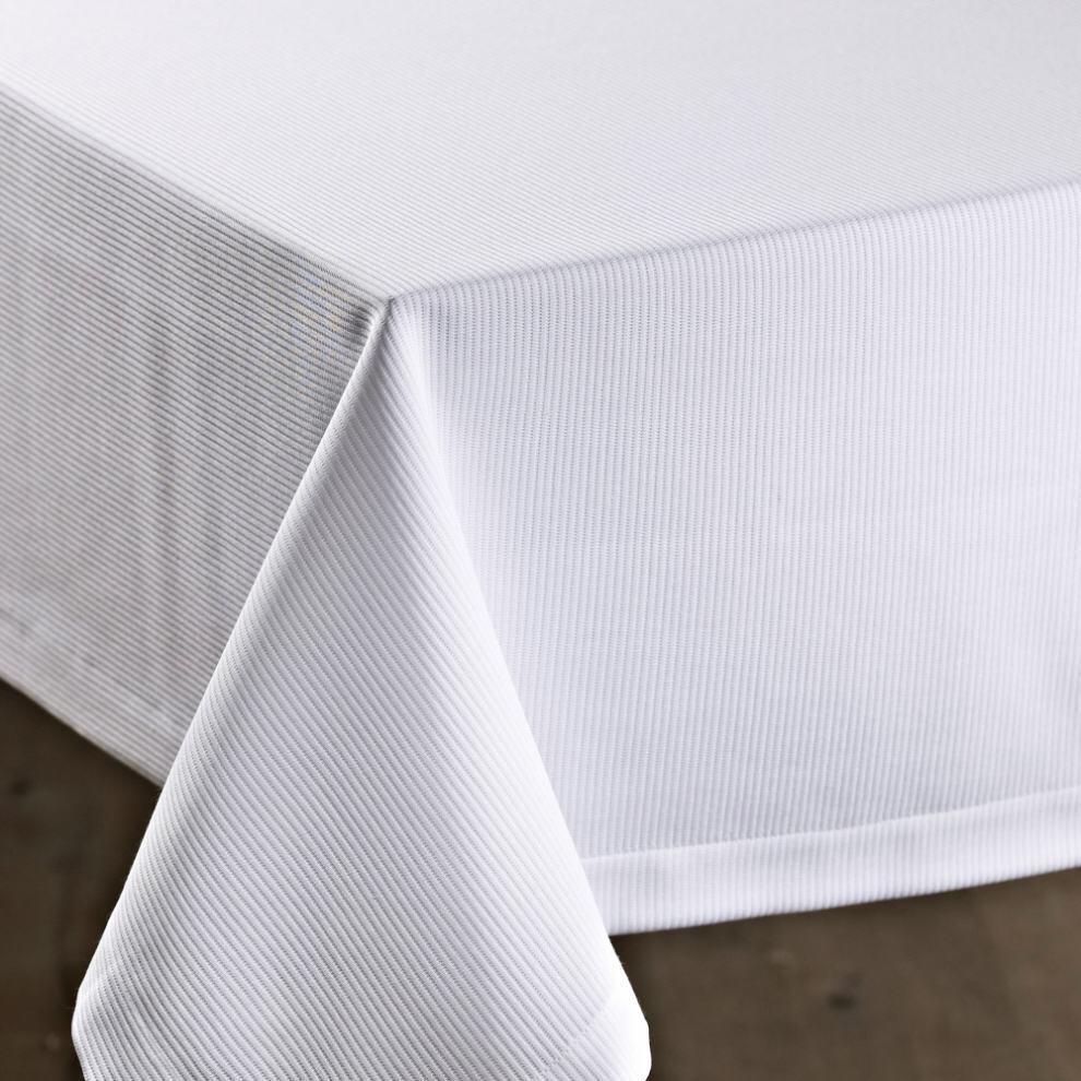 Schlitzer Leinen Tischdecke Strada weiß