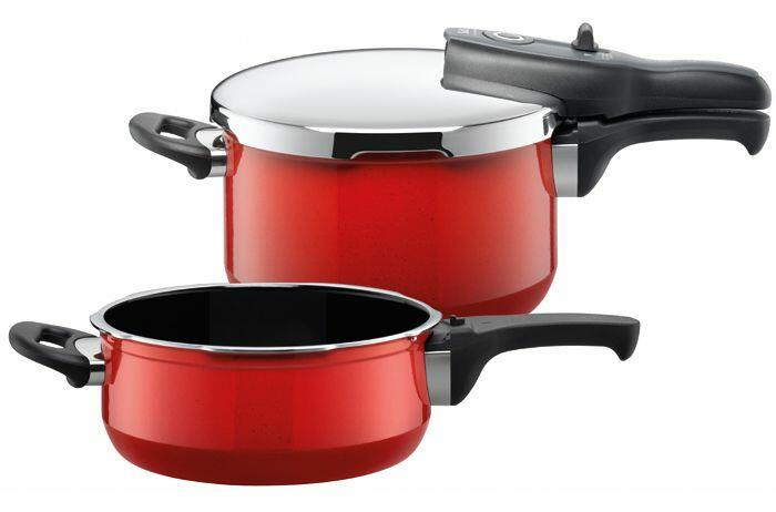 Silit Schnellkochtopf Sicomatic t-plus Duo Energy Red, 2-teilig