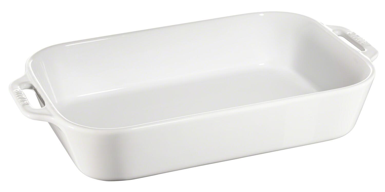 Staub Auflaufform aus Keramik in weiß