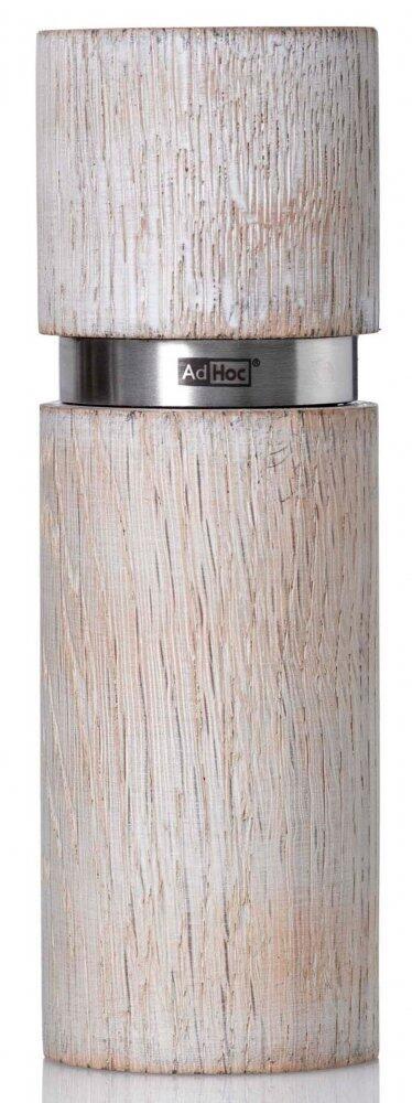 AdHoc Pfeffer- oder Salzmühle Textura Antique weiß