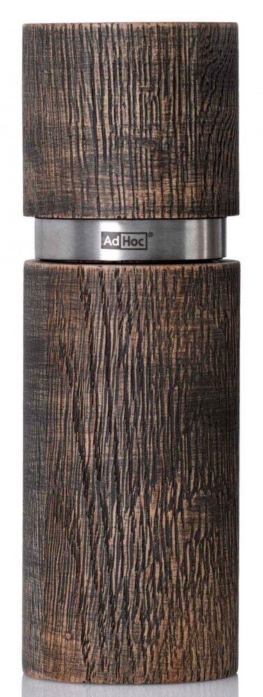AdHoc Pfeffer- oder Salzmühle Textura Antique schwarz