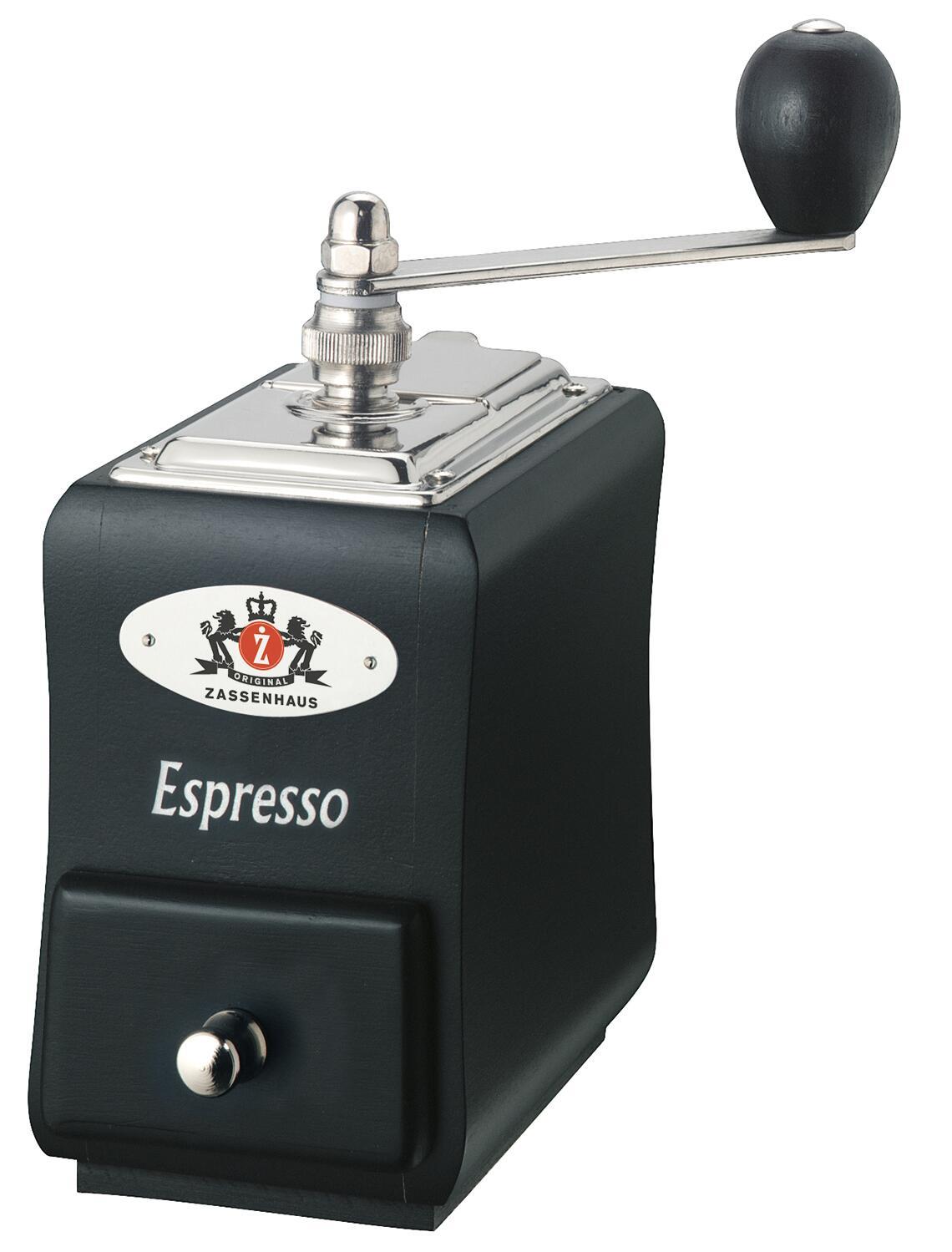 Zassenhaus Espressomühle Santiago Buche schwarz
