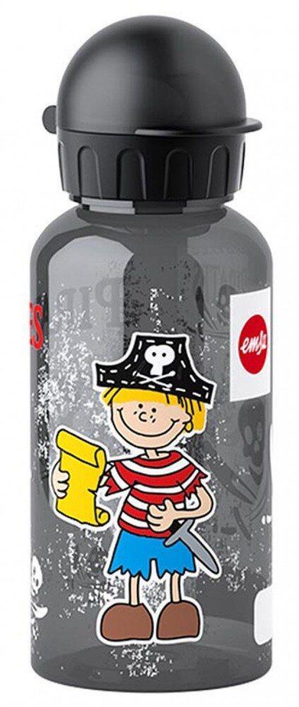 Emsa Kids Tritan Trinkflasche Pirat mit Trinkverschluss