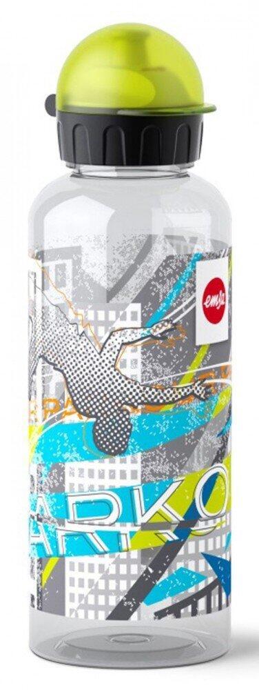 Emsa Teens Tritan Trinkflasche Parcours mit Trinkverschluss
