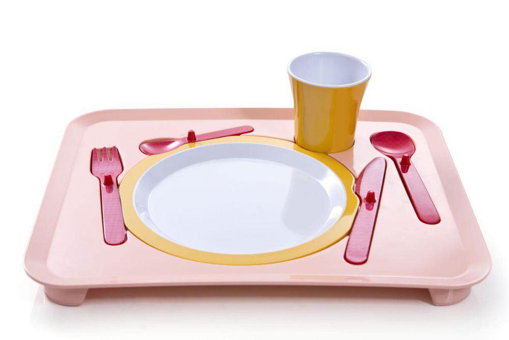 Royal VKB Kindertablett Puzzle Dinner Tray in rosa