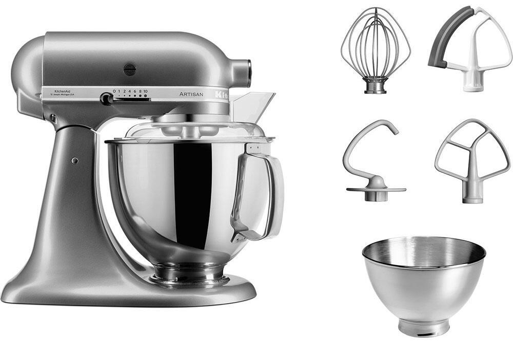 KitchenAid Küchenmaschine ARTISAN 175PS in kontur silber, 4,8 L