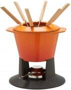 Le Creuset Fondue-Set Gourmand in ofenrot