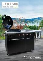 Outdoorchef Gaskugelgrill Lugano 570 G mit Unterbau, mit Steakhouse Burner und S