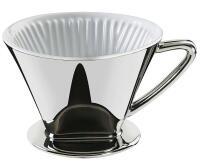 Cilio Kaffeefilter Größe 4 Silber