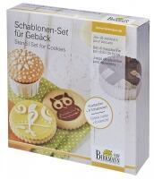 Birkmann Schablonen-Set für Gebäck, 7-teilig