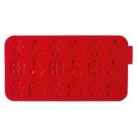 Städter Silikonform Weihnachten 22,5 x 12 cm Rot Silikon