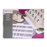 Städter Kunststoff-Ausstecher-Form Kucheneinteiler & Teigschneider 36 x 30 cm Weiß fü