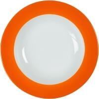Eschenbach Porzellan Teller tief 22 cm in orange