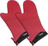 Spring Handschuh Grips lang in rot-schwarz, 1 Paar