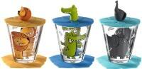 Leonardo Kindertrinkset BAMBINI 9-teilig Löwe/Krokodil/Elefant