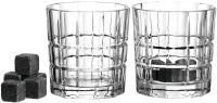 Leonardo Whiskygläser D.O.F. SPIRITII 2er-Set & 8 Kühlsteine