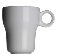 Modern Classic Kaffeebecher von Porzellanfabrik Walküre, weiß